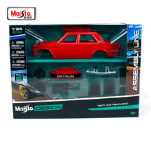 Maisto 1:24 Nissan 1971 DATSUN 510 Assembly DIY Retro performance car Diecast Model Car Toy New In Box Free Shipping NEW ARRIVAL цены