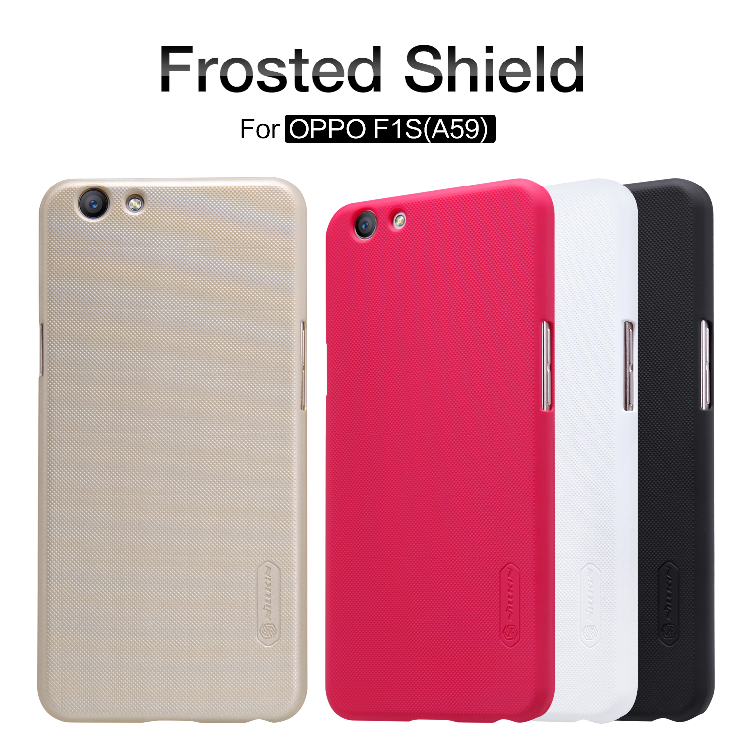 For Oppo F1s Case Nillkin Frosted Shield Phone Matte New A59 A1601 Hard Plastic Back Cover With Screen Protector