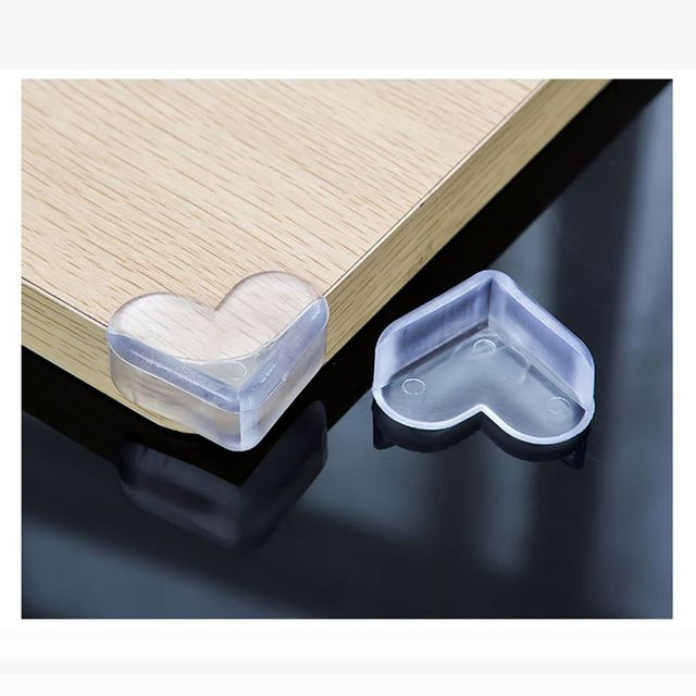 Awesome Heart Shape Soft Silicone Baby Safety Protector Glass Table Desk Cabinet  Corners Edge Cushion Guard Bumper