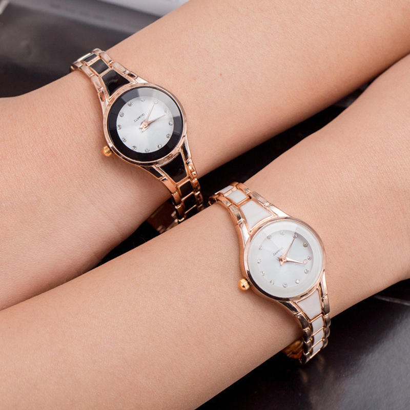 New 2017 Small Dial Popular Women casual wristwatch Ladies steel Quartz Watch female Simple dress clock hours diamond reloj gift new 2018 luxury brand simple pink dial women casual wristwatch ladies leather quartz watch female elegant dress clock hours