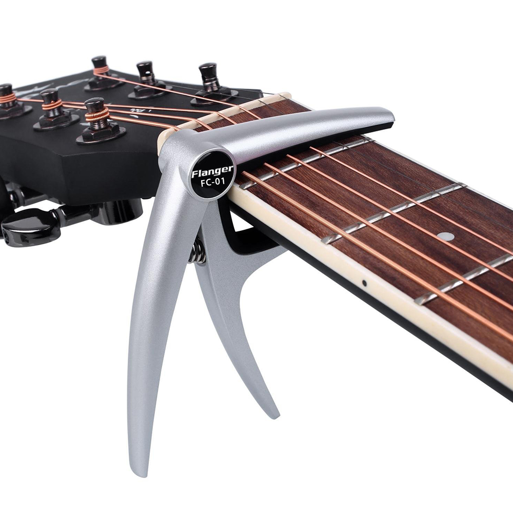 flanger music high strength spring aluminum alloy guitar capo for 6 strings acoustic electric. Black Bedroom Furniture Sets. Home Design Ideas