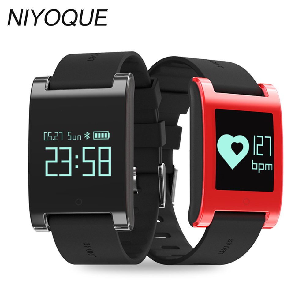 NIYOQUE waterproof smart band DM68 fitness tracker Blood Pressure heart rate monitor wristband Calls Messages watch