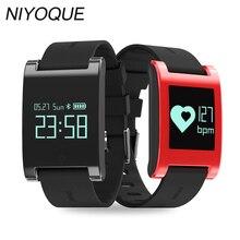 Niyoque водонепроницаемый Smart Band DM68 фитнес-трекер крови Давление пульсометр браслет вызовы сообщения часы для телефона