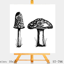 AZSG Mushroom house Clear Stamps/Silicone Transparent Seals for DIY scrapbooking Card Making