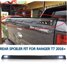 CITYCARAUTO LED BLACK REAR SPOILER TAIL WING FIT FOR RANGER T7 TXL 2016 2017 PICKUP REAR SPOILERS WITH LED