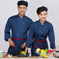 Long sleeve uniform!The New Hotel  Chef Working Clothes   Restaurant Chef Wear Suit