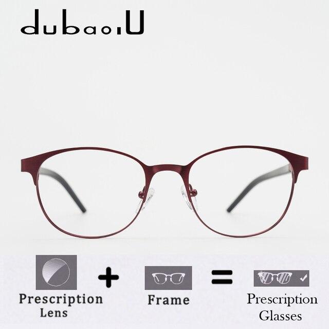 0ec20fa51 سبائك النظارات الطبية الأزياء جولة الكمبيوتر البصرية قصر النظر واضحة وصفة  طبية للنساء الحدود الضيقة #