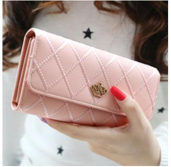 women long Korean version buckle, diamond case wallets lady pures