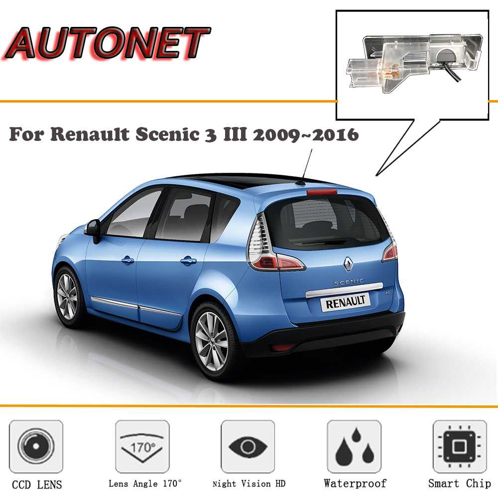 AUTONET HD Night Vision Backup Rear View Camera For Renault Scenic 3 III 2009~2016/CCD/license Plate Camera