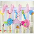 infant little birds Rattles Strollers Car Hanging Bed Infants Doll Plush Toys Newborn baby Early Educational teddy