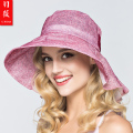 Promotion! Lady New Beach Sun Hats Women Summer Sun Cap Girl Big Bongrace Sunhat Wide Brim Wind-proof  Flower Sunhat B-3719