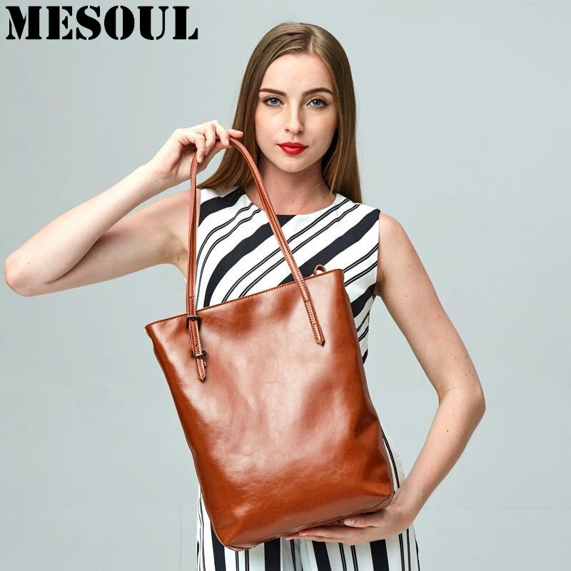 Women Genuine Leather Shoulder Bag Cowhide Ladies Messenger Bags Fashion Brown Shopping Tote Bag Designer Handbags High Quality simple design cowhide women handbags high quality genuine leather shoulder bags fashion casual small box tote messenger bag 2017