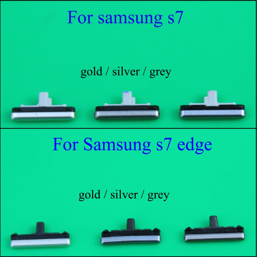 YuXi  Side Button For Samsung Galaxy S7 G930 / S7 Edge G935 Power On / Off +Up / Down Volume Button Key Replacement