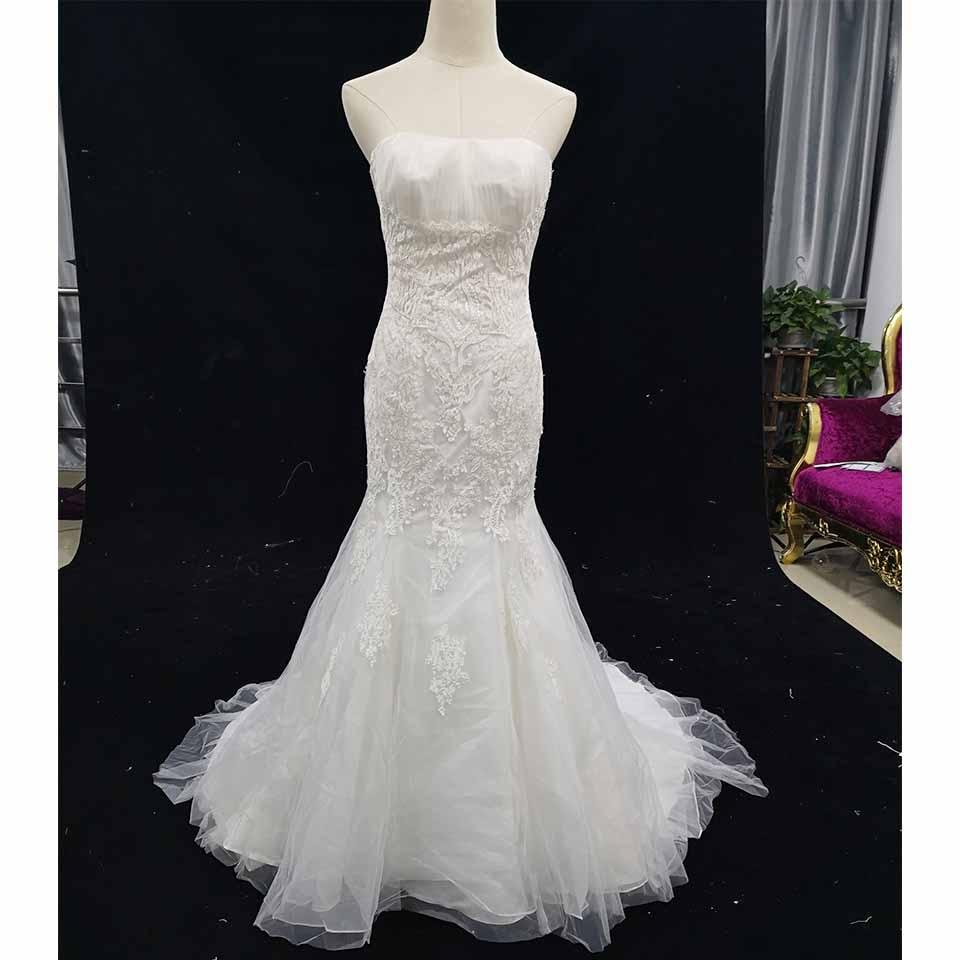 Greenspine Simple Elegant Mermaid Wedding Dresses 2019