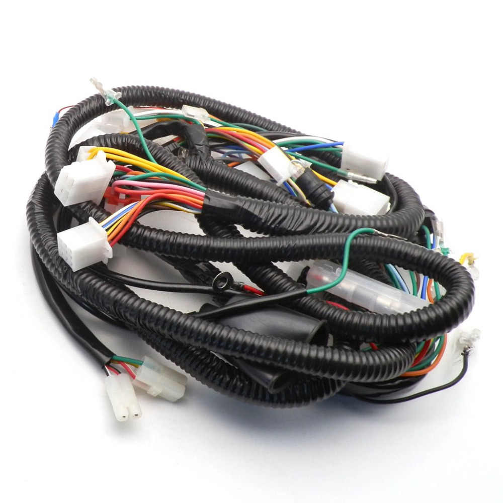Cina GY6 150CC Wire Harness Wiring Assembly Skuter Moped untuk 11 Tiang/8 Tiang Magneto