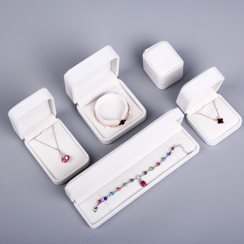 6 Color Jewelry Storage Box Pendant Ring Earring Necklace Bracelet Ear Stud Bracelet Long Chain Storage Household Storage Items