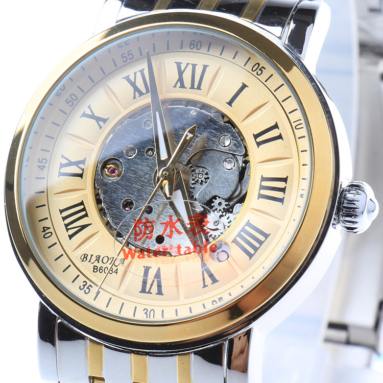 100m Waterproof Roman numerals Dial Calendar Mens Mechanical Watch 2016 NEWEST Luxury brand BIAOKA watches relogio masculino
