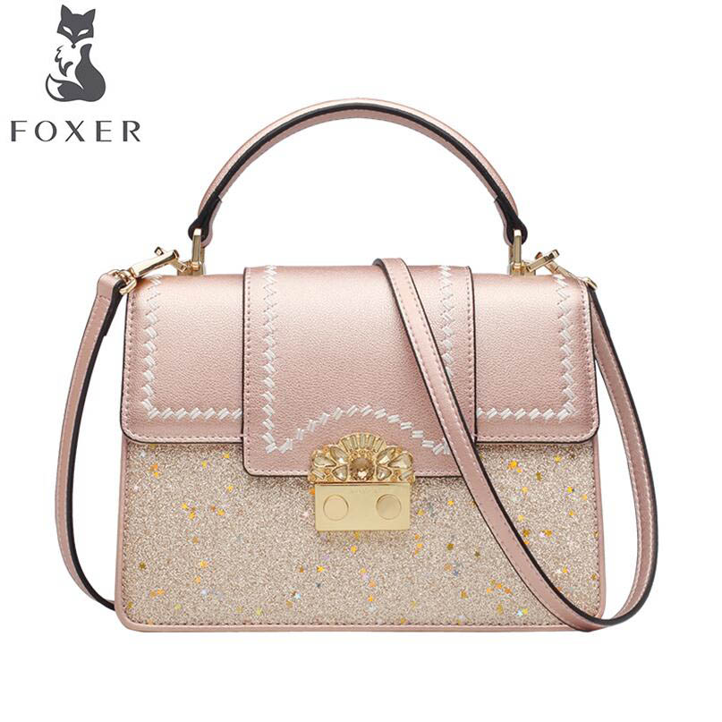 FOXER brand bag Handbag 2018 new women's bag simple star messenger bag Wild small square bag hiscock kevin m hydrogeology principles and practice
