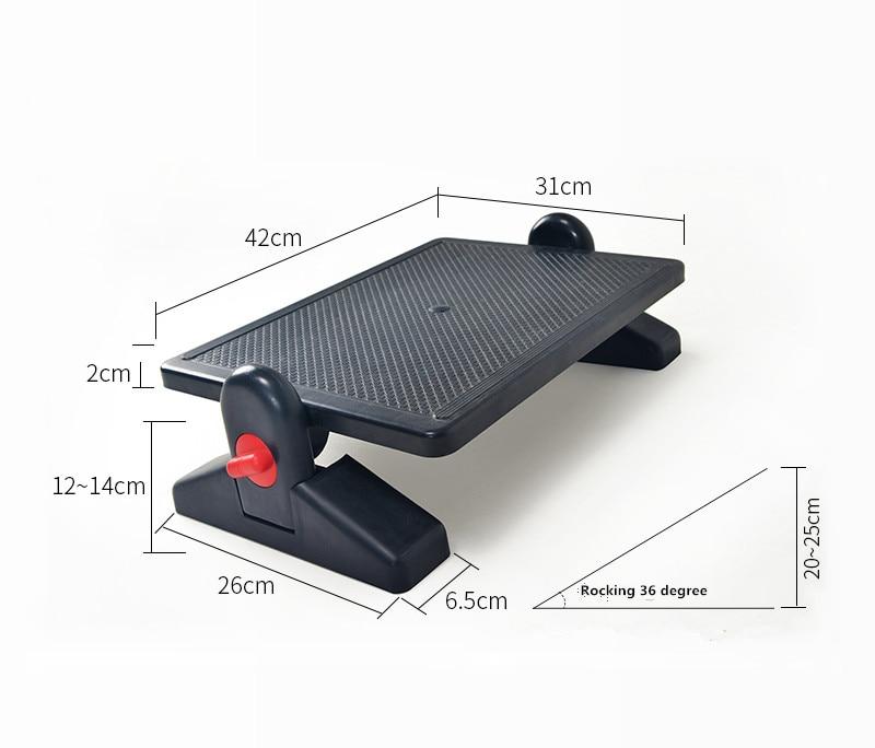 Ergonomic Footrest Adjule Angle And