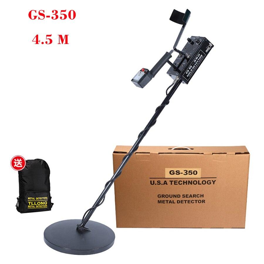 Profissional GS-350 Fiação Subterrânea Detector De Metais Pinpointer Detector de Ouro Treasure Hunter À Prova D' Água Com Bateria Li-