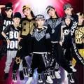 Frete grátis 2016 Hip Hop mesa Hip Hop calças traje de manga curta Hip Hop traje de dança para jovens mulheres ou homens