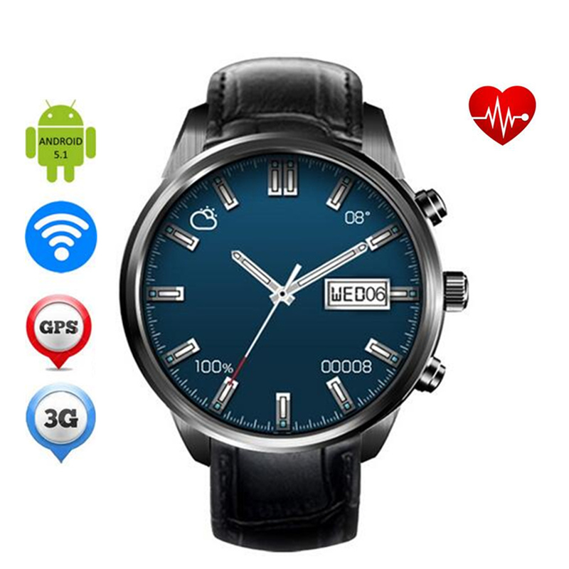 Android 5 1 Smart Watch Finow X5 plus MTK6580 Quad core Amoled 400 400 SIM Card