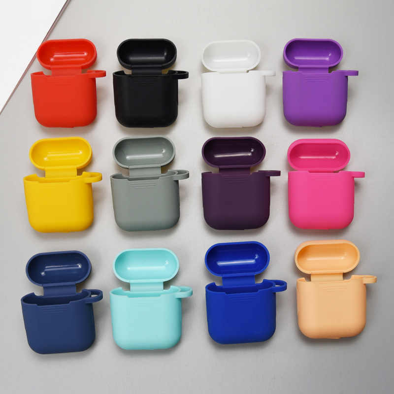 Silicone Cases for Airpods i9s Case Protective Earphone Cover for Air pods Charging Box Pouch Bluetooth Wireless Earphone Case