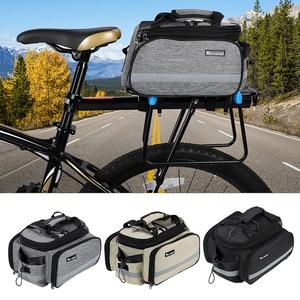 Image 5 - WEST BIKING Bicycle Bags Large Capacity Waterproof Cycling Bag Mountain Bike Saddle Rack Trunk Bags Luggage Carrier Bike Bag