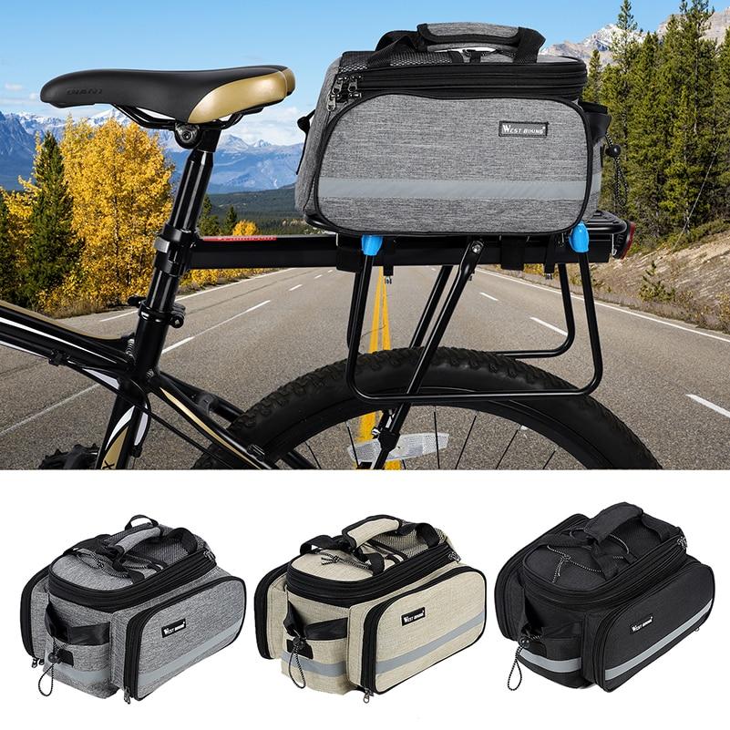 Image 5 - West biking sacos de bicicleta grande capacidade à prova  dwaterproof água saco ciclismo mountain bike sela rack bags bags bagagem  transportadora da bicicleta sacoCestos e bolsas p/ bicicleta   -