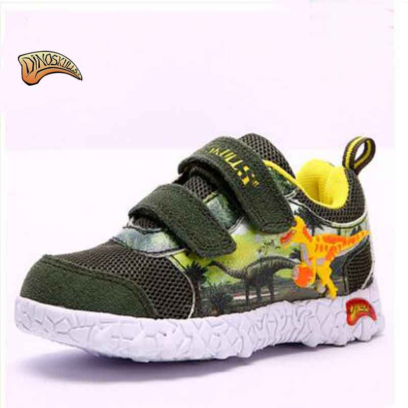 Dinoskulls Autumn/Winter New Children Shoes Sport Breathable Boys Sneakers Brand Kids Shoes For Boys Cute Dinosaur Casual Shoes autumn new fashion comfortable children boys girls shoes kids sport breathable high quality caterpillar lazy shoes convenient
