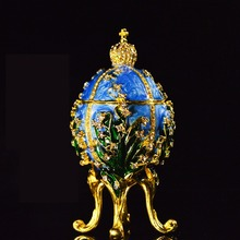 Fashion metal home decor Collection Faberge egg