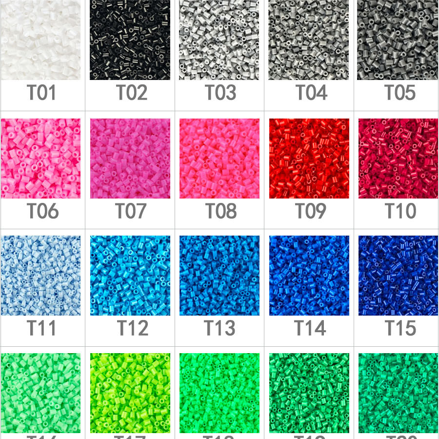 1000pcs 2.6mm EVA Hama/PUPUKOU Toy Kids Fun Craft DIY Handmaking Fuse Bead Creative Intelligence Educational Toys