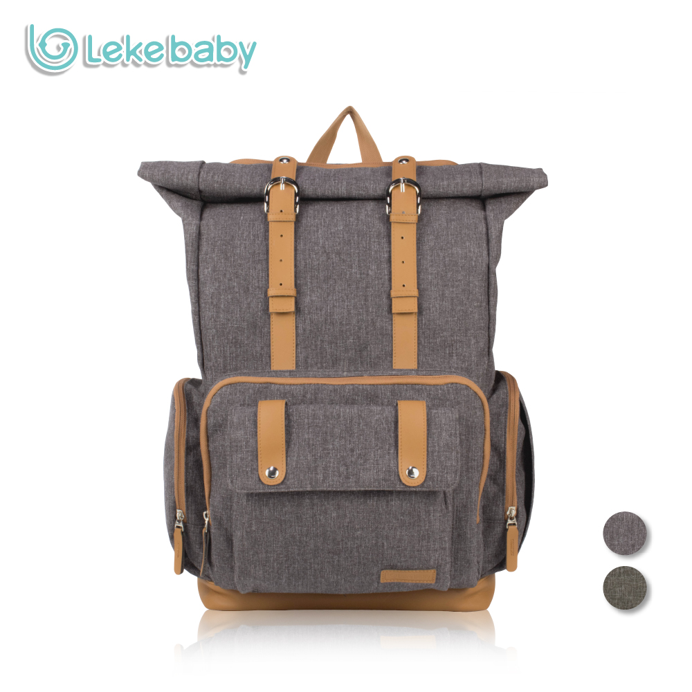 Lekebaby Travel Designer Diaper Bag Dad Nappy Backpack Maternity Nursing Changing Mummy Bag for Baby Care genuine leather watch band strap for samsung galaxy gear s2 classic r732 black