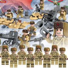 Oenux Новое поступление WW2 китайско-японской войны военные сцены китайский й солдаты армии с блок оружия Кирпич игрушка для детей