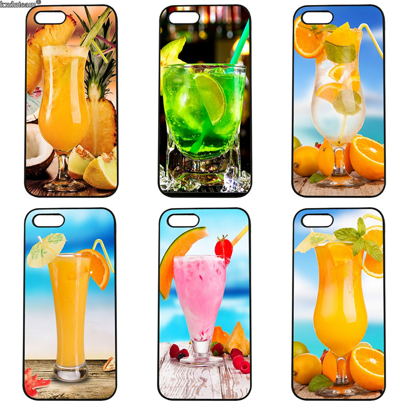 Delicious Cocktail Pattern Cell Phone Cases Hard Plastic Cover for iphone 8 7 6 6S Plus X 5S 5C 5 SE 4 4S iPod Touch 4 5 6 Shell
