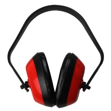 Soft Foam Ear Muff Hearing Protection For Shooting Hunting Loud Noise Reduction Red
