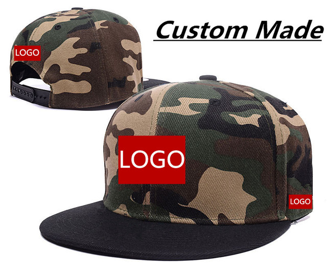 eed7abdb42170 Wholesale 50pcs lot Custom Made Baseball Cap Hat Cotton 3D Embroidery 6  Panels Snapback Adult