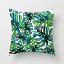 Fuwatacchi Summer Style Decorative Pillows Tropical Plant Fruit Cushion Cover for Home Chair Decor Bird Cactus Pillow 4545