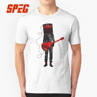 T Shirts Amplified Acoustic Electric Guitars Rock Music Man Slim Fit Short Sleeve Tee Shirts New