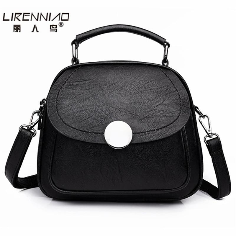Lirenniao schoolbag Designer handbag high Quality Genuine Leather Bags Handbags Women Famous Brands Shoulder Bag for