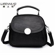 Lirenniao schul designer-handtasche hohe Qualität Aus Echtem Leder Taschen Handtaschen Frauen Berühmte Marken Umhängetasche für frauen 2017