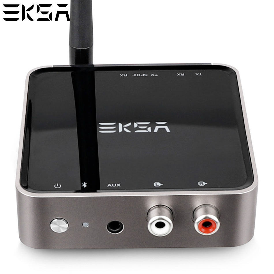 цена EKSA 2 In 1 Bluetooth 5.0 Transmitter Receiver 164ft Long Range Wireless 3.5mm Audio Adapter for TV Headphones aptX Low Latency