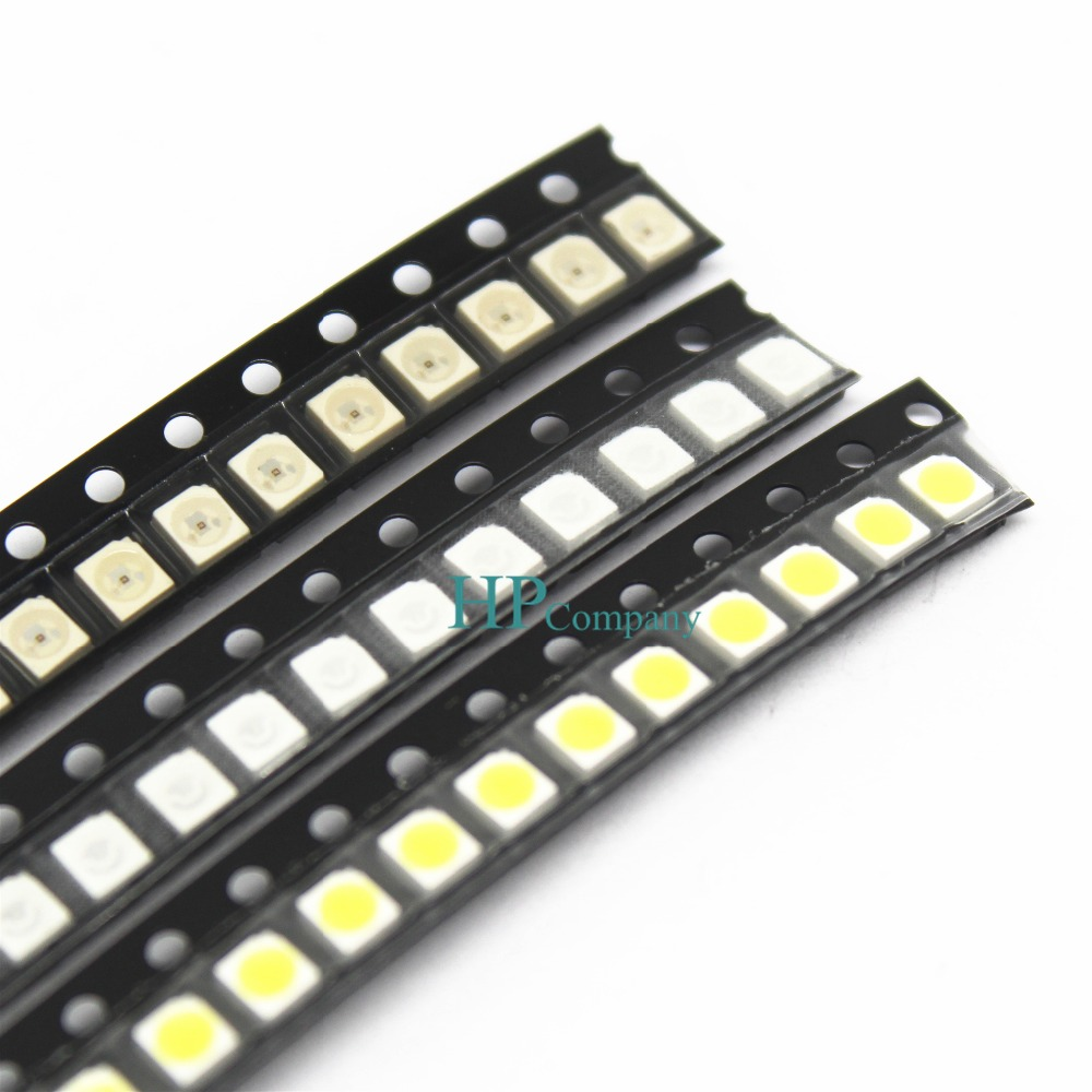 100pcs Super Bright 3528 1210 SMD LED Red/Green/Blue/Yellow/White LED Diode 3.5*2.8*1.9mm(China)
