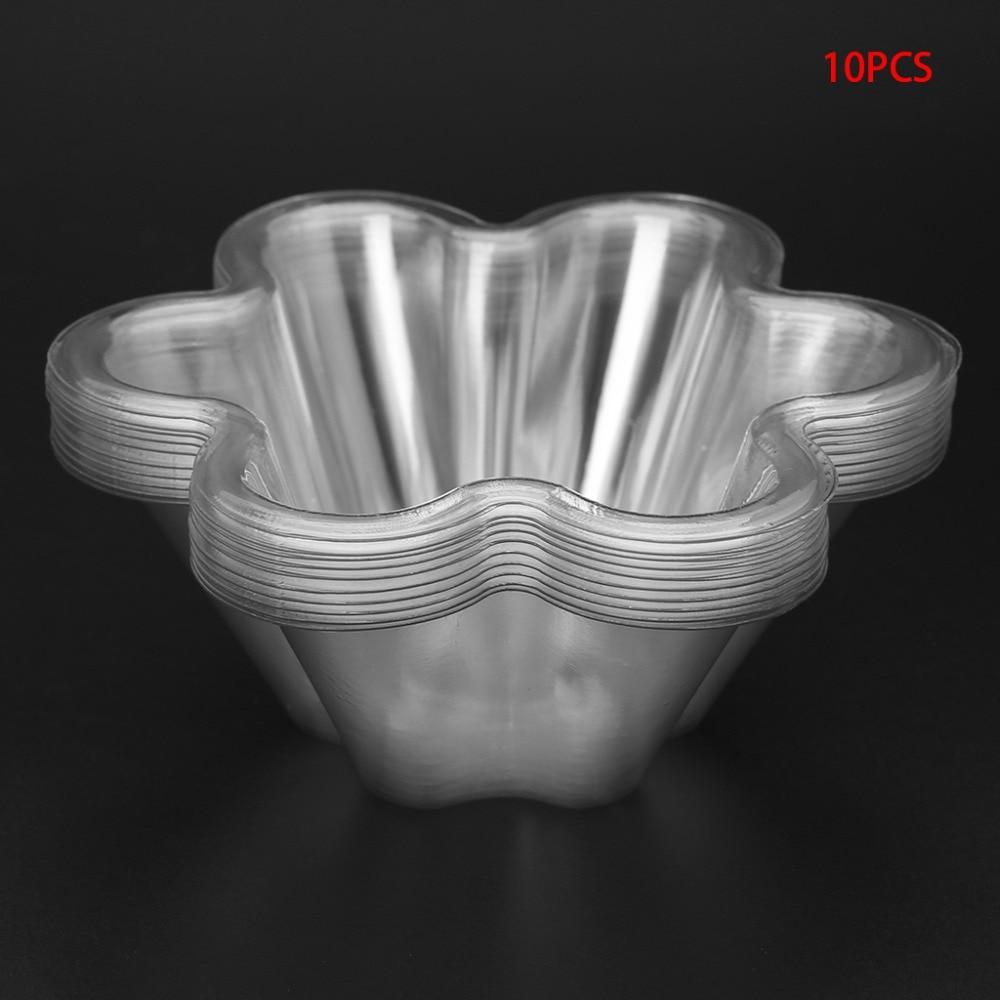 10Pcs Disposable Plastic Bowl Transparent Ice Cream Soup ...