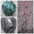 Envío gratis 2016 nueva moda de invierno gris azul rosa pájaro en árboles Bird Scarf bufandas infinito Loop Snood para mujer / para mujer