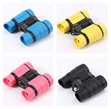 4×30 Children Binoculars with Rubber Handle Pocket Size Plastic Outdoor Sports Optics Telescope Outdoor Games Boys Toys Gift