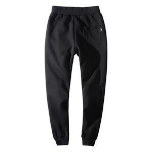 Image 3 - YIHUAHOO سراويل شتوية الرجال 6XL 7XL 8XL عادية سميكة الفراء بطانة الدافئة Sweatpants الصوف السراويل المرنة هوديي السراويل الترنك الرجال
