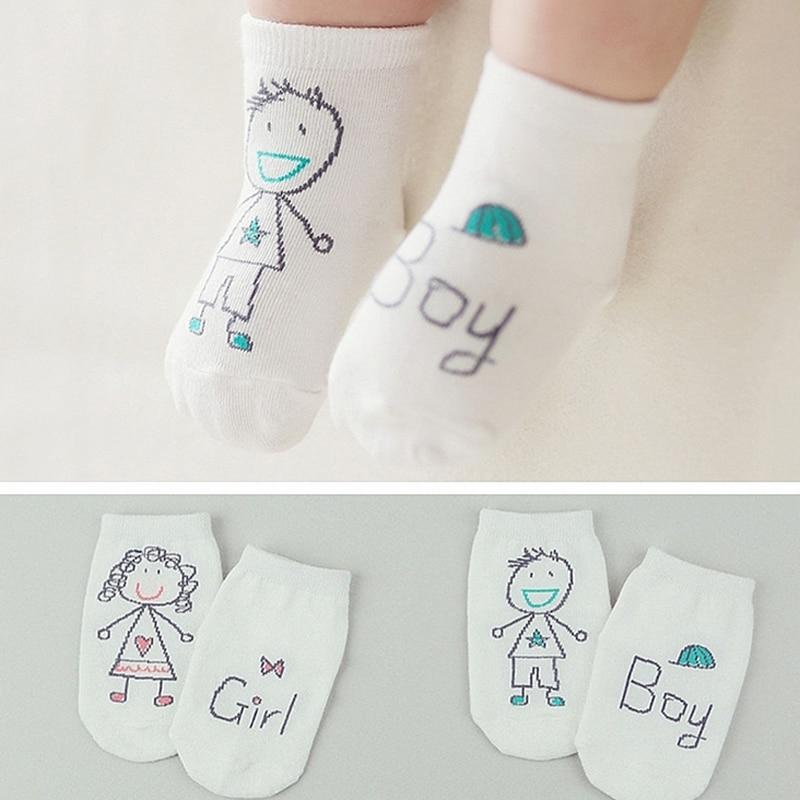 Newborn Anti-slip Asymmetry Cotton Baby Socks Cartoon Dog Pig Owl Boys Girls Short Socks Spring Autumn Infant Toddler Socks D30