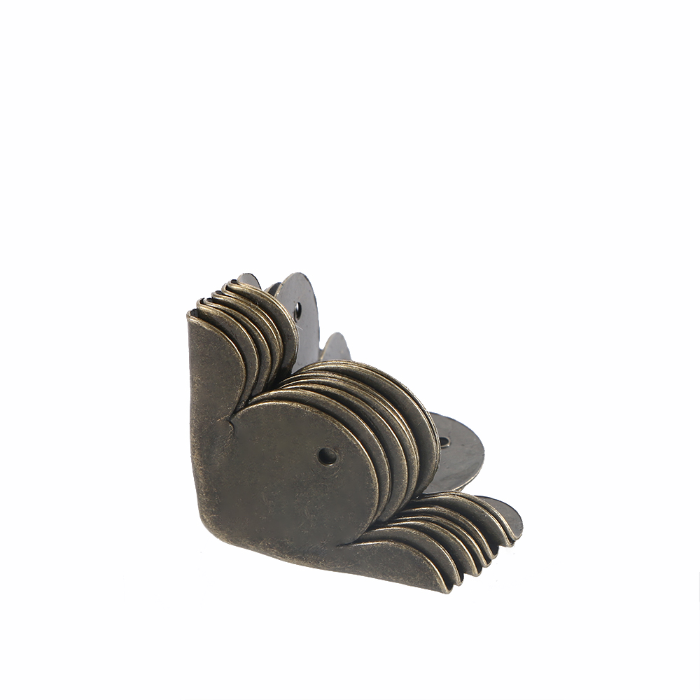 Eckverbinder Yinzhure 30 Stücke 27*33mm 30*29mm Antike Bronze Schmuck Holzkiste Dekorative Fuß Bein Winkel Schutzkleidung Hardware-kabinett