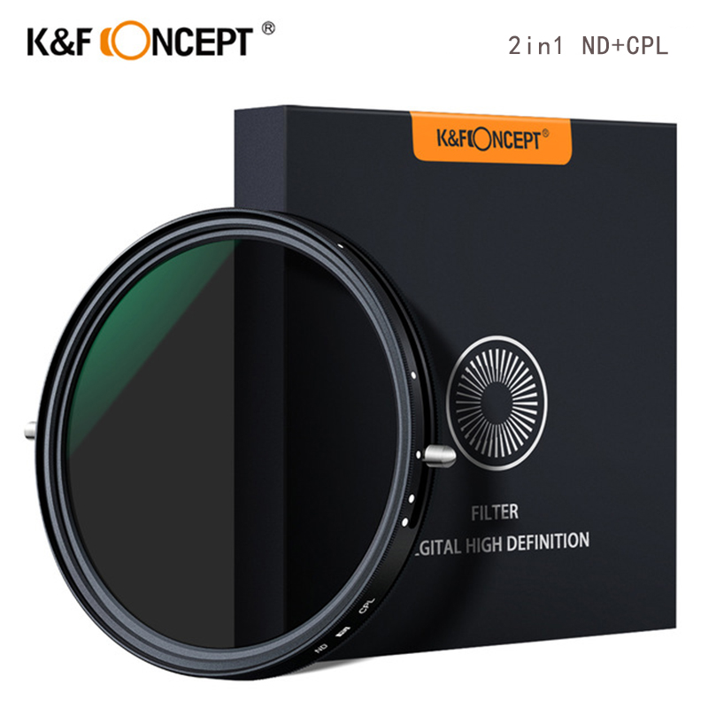 K F Concept 2in1 Fader Variable ND Filter CPL Circular Polarizing Filter 67mm 72mm 77mm 82mm